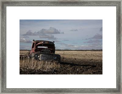 Old Ford Framed Print by Larysa  Luciw