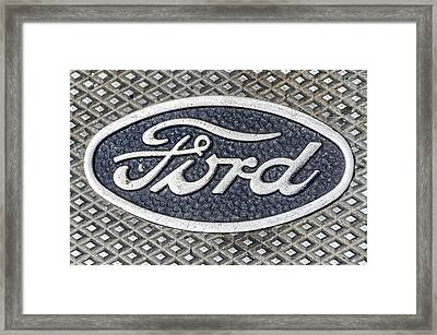 Old Ford Symbol Framed Print