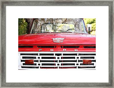 Old Ford Truck 5d22422 Framed Print by Wingsdomain Art and Photography