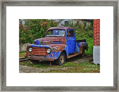 Old Ford Truck Framed Print