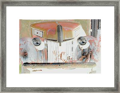Old Ford Truck - Photopower Framed Print by Pamela Critchlow