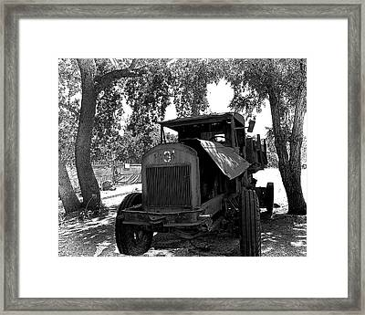 Old Ford Work Truck Framed Print