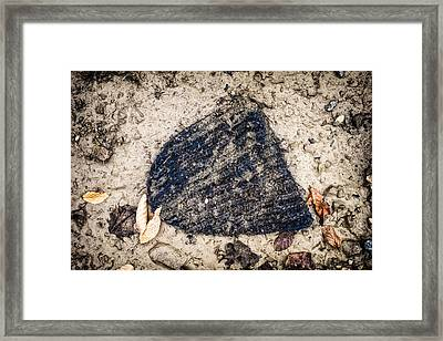 Old Forgotten Wool Cap Lying On The Ground Framed Print by Matthias Hauser
