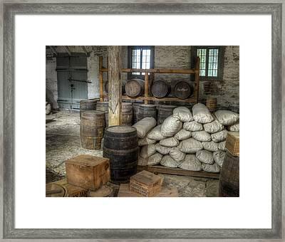 Old Fort Commissary Framed Print by James Barber