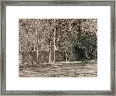 Old Fort Framed Print by Dennis Dugan