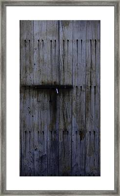 Old Fort Door Framed Print