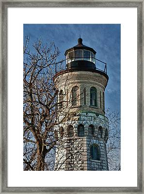 Framed Print featuring the photograph Old Fort Niagara Lighthouse 4484 by Guy Whiteley