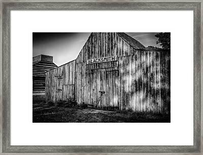 Old Fort Wayne Blacksmith Shop Framed Print by Gene Sherrill