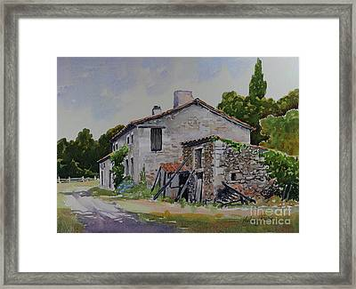 Old French Farmhouse Framed Print by Anthony Forster