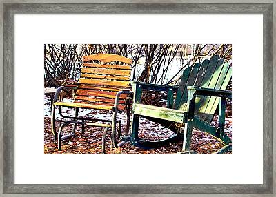 Old Friends In February Sunlight Framed Print