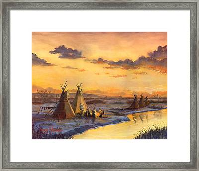Old Friends New Stories Framed Print