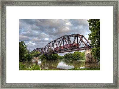 Old Frisco Bridge Framed Print