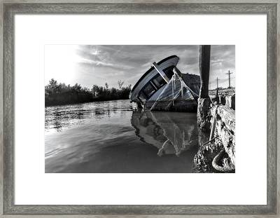 Old Gal Resting Framed Print by Stellina Giannitsi