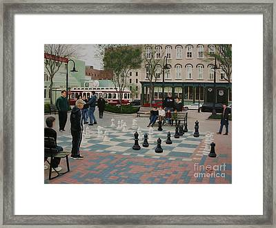 Old Galveston Square Framed Print by Jimmie Bartlett