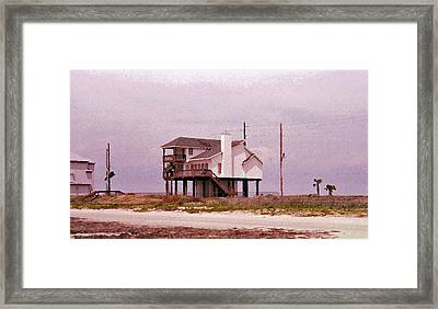 Old Galveston Framed Print