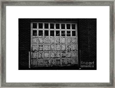 Old Garage In The Alley Framed Print