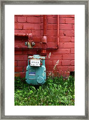Old Gas Meter Framed Print by James Brunker