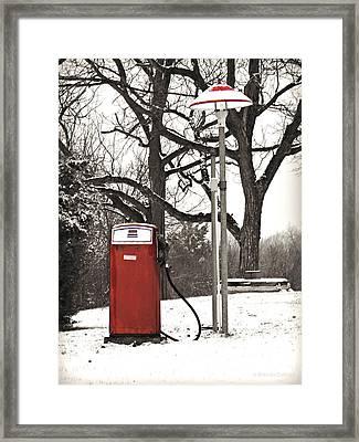 Old Gas Pump Framed Print