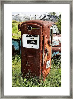 Framed Print featuring the photograph Old Gas Pump by Paul Mashburn