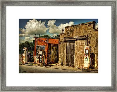 Old Gas Station Framed Print