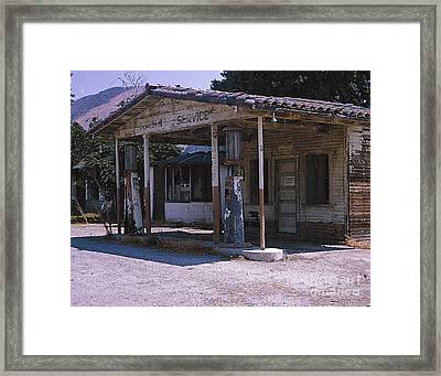 Old Gas Station Ventura Blvd Ca Framed Print