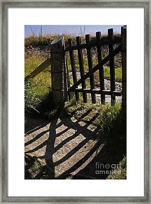 Framed Print featuring the photograph Old Gate by Inge Riis McDonald