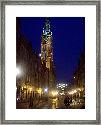 Old Gdansk November Nights Framed Print