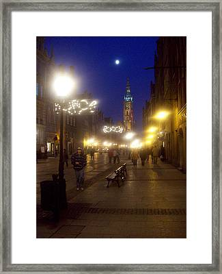 Old Gdansk Shops Framed Print