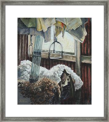 Old Gear Shed Framed Print by Grizelda Cockwell