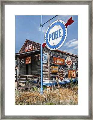 Old General Store Framed Print