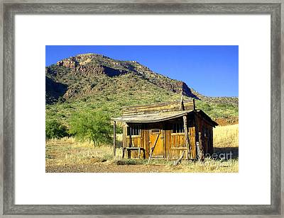 Old General Store - Salt River Canyon Framed Print by Douglas Taylor