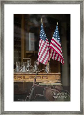 Old General Store Window Framed Print