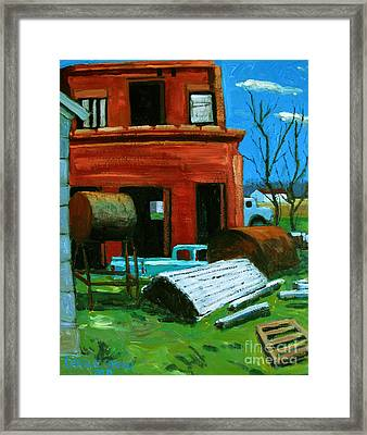 Old Generator Station For The Interurban Framed Print by Charlie Spear