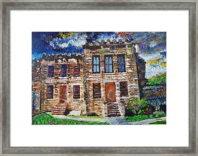 Old Georgetown Jail Framed Print by GretchenArt FineArt