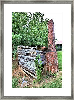 Framed Print featuring the photograph Old Georgia Smokehouse by Gordon Elwell