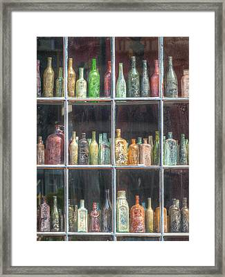 Old Glass Framed Print by Brenda Bryant