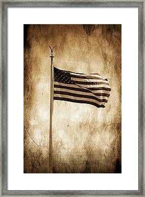 Framed Print featuring the photograph Old Glory by Aaron Berg