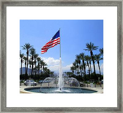 Old Glory At Eisenhower Framed Print by Randall Weidner