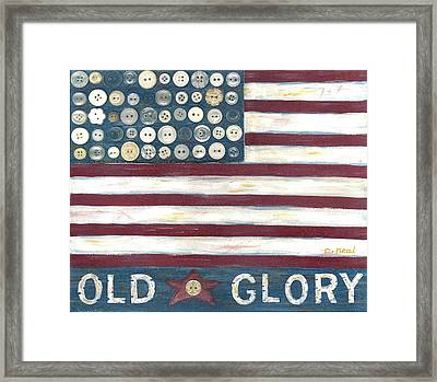 Old Glory Framed Print by Carol Neal