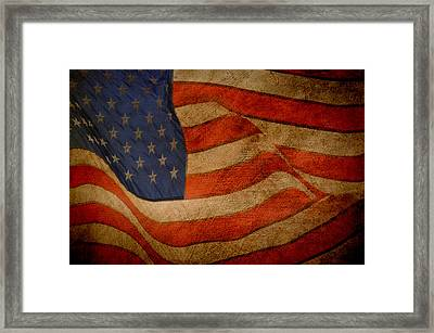 Old Glory Combat Flag Framed Print by Davina Washington
