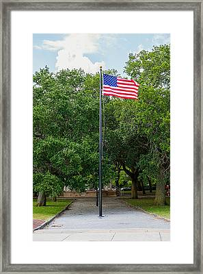 Framed Print featuring the photograph Old Glory High And Proud by Sennie Pierson
