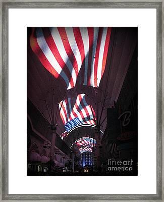 Old Glory In Vegas Framed Print by John Malone