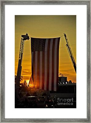 Framed Print featuring the photograph Old Glory by Jim Lepard