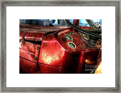 Old Glory - Tractor Framed Print