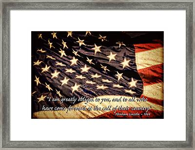 Old Glory Military Tribute Framed Print