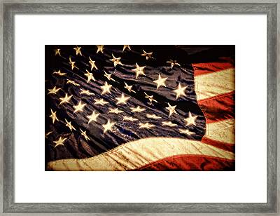 Old Glory Perseveres Framed Print
