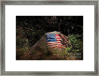 Old Glory Rocks Framed Print