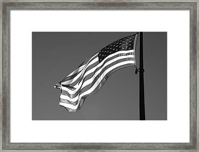 Framed Print featuring the photograph Old Glory by Ron White