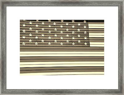 Old Glory  Sepia Framed Print by Elizabeth Sullivan
