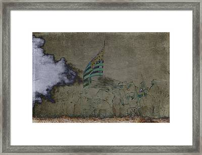 Old Glory Standoff Framed Print by Wes and Dotty Weber